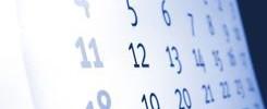 calendar for article on blog posting
