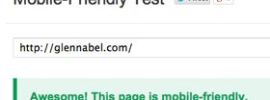 Google mobile responsive test for web sites